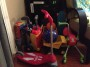 This is what organized looks like... toys are taking over our living room!
