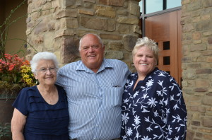 Clint's dad with his mom and sister