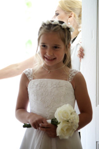 My cousin (sister of the bride) and flower girl... adorable, right?