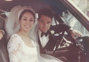 On their wedding day 45 years ago today