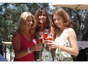 My wedding shower: Pam- left, my mom- center, me- right