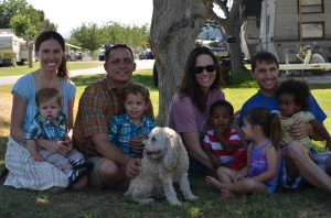 Us with Clint's brother, sister-in-law and our sweet nieces and nephew