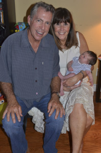 My parents holding newborn Austin at Easter last year