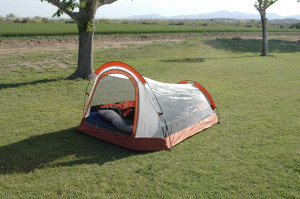 Our tent back in the day