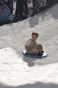 Parker LOVED sledding