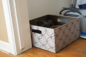 Our entry way shoe box