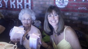 My mom and Grandma celebrating their birthdays together