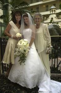With my mom and grandma :)